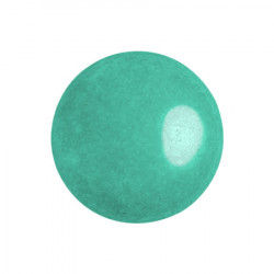 Cabochon Verre 18mm Opaque Green Turquoise Luster (X1)