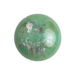 Cabochon Verre 18mm Opaque Green Turquoise New Picasso (X1)