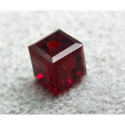 Perle cube en cristal Swarovski 5601 4mm Siam (x1)
