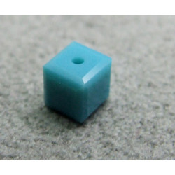 Perle cube en cristal Swarovski 5601 4mm Turquoise (x1)