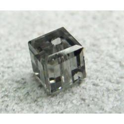 Perle cube en cristal Swarovski 5601 4mm Black Diamond (x1)