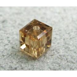 Perle cube en cristal Swarovski 5601 4mm Light Colorado Topaz (x1)