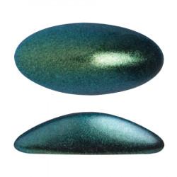 ATHOS PAR PUCA® CABOCHON OVAL 20X10 MM - METALLIC MAT GREEN TURQUOISE (X1)