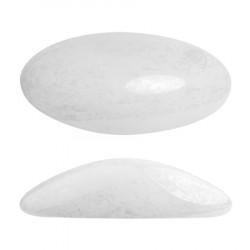 ATHOS PAR PUCA® CABOCHON OVAL 20X10 MM - OPAQUE WHITE CERAMIC LOOK (X1)
