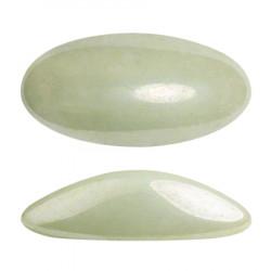 ATHOS PAR PUCA® CABOCHON OVAL 20X10 MM - OPAQUE LIGHT GREEN CERAMIC LOOK (X1)
