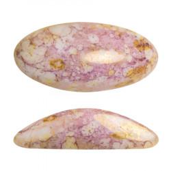 ATHOS PAR PUCA® CABOCHON OVAL 20X10 MM - OPAQUE MIX ROSE GOLD CERAMIC LOOK (X1)