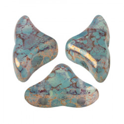 Perles Hélios® par Puca® 5x7mm Blue Green Opal Bronze (x5gr)