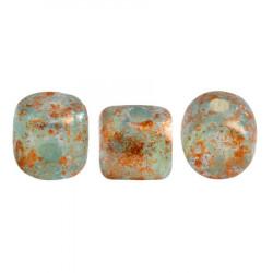 Perles Minos® Par Puca® Blue Green Opal Tweedy (x5gr)