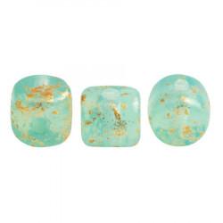 Perles Minos® Par Puca® Blue Green Opal Splash (x5gr)