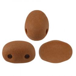 Perles Samos® par Puca® 5x7mm Opaque Choco Mat (x5gr)