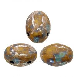 Perles Samos® par Puca® 5x7mm Opaque Jonquil New Picasso (x5gr)