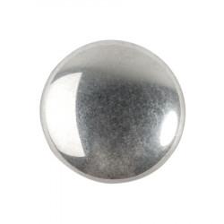 Cabochon Verre 18mm Argenté Silver (X1)