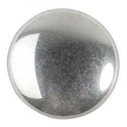Cabochon Verre 25mm Argenté Silver (x1)