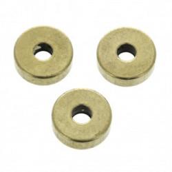 Perles Heishi Laiton Bronze 6x2x1.2mm (x1)
