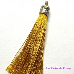 Pompon Argenté Soie Gold 80mm (X1)
