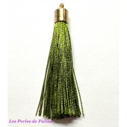 Pompon Gold Soie Olive 80mm (X1)