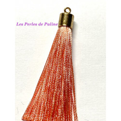 Pompon Gold Soie Peach 80mm (X1)