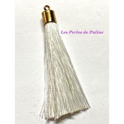 Pompon Gold Soie White 80mm (X1)