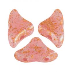 Perles Hélios® par Puca® 5x7mm Rose Opal Tweedy (x5gr)