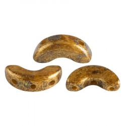 Perles Arcos® Par Puca® Opaque Beige Gold Spotted (5gr)