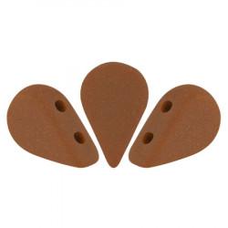 Perles Amos® par Puca® 5x8mm Opaque Choco Mat (5gr)