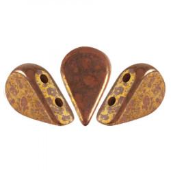 Perles Amos® par Puca® 5x8mm Opaque Choco Bronze (5gr)