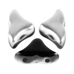 Perles Hélios® par Puca® 5x7mm Jet Silver (5gr)