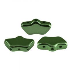 Perles Delos® par Puca® 6x11mm Metallic Green (5gr)