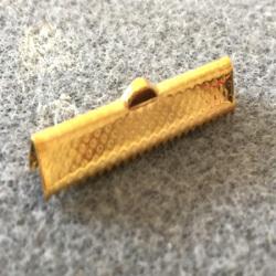 Embout à Clipser rectangle Golden 30x8x5mm trou:1x3mm (x100)