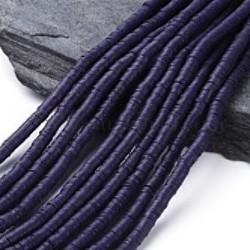 Perles Heishi Polymère Dark Purple 6x1mm (x1fil)