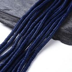 Perles Heishi Polymère Dark Blue 35 6x1mm (x1fil)