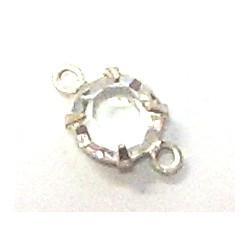 Perles Strass 2 anneaux cristal Swarovski 5mm(X1)