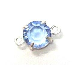 Perles Strass Swarovski 2 anneaux light saphir 5mm(X1)