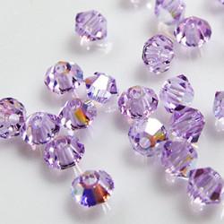 Toupies 3mm Violet AB - réf.5301 (x20)