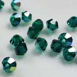 Toupies 3mm Emerald AB - réf.5301 (x20)