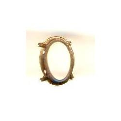 Sertissure couleur Bronze pour 4120 14X10 mm (X1)