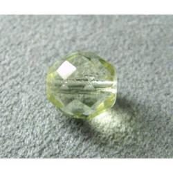 Facettes en verre de Bohême 10mm Jonquille (x1)