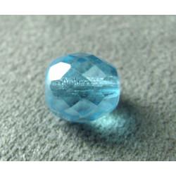 Facettes en verre de Bohême 10mm Aquamarine (x1)