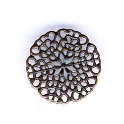 Estampe ronde cuivre 25mm (x1)