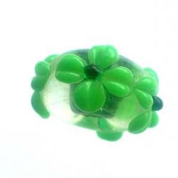 Perle rondelle Vert pomme 16x8mm (X1)