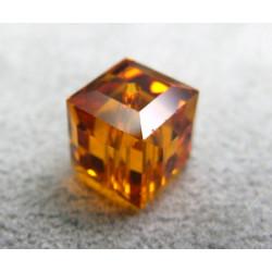 Perle cube en cristal Swarovski 5601 8mm Topaz (x1)