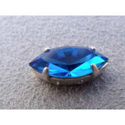 Navette sertie 15X7 Capri Blue (X1)
