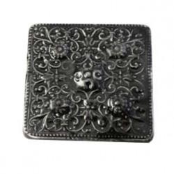 Cabochon en céramique de Vallauris Carré Noir 45mm