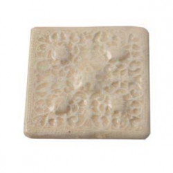 Cabochon en céramique de Vallauris Carré Beige 45mm