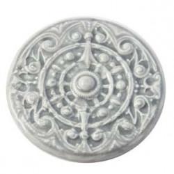 Cabochon en céramique de Vallauris rond Gris 60mm