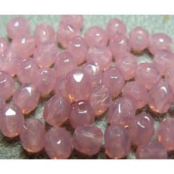 Facettes de Bohême 4mm Rose Opal (x100)
