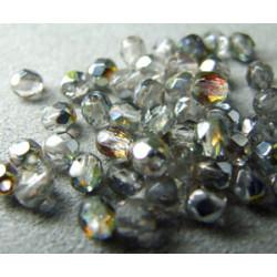 Facettes de Bohême 4mm Cristal Maréa (x100)