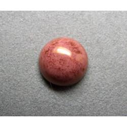 Cabochon rond en verre 16mm Rose marbré
