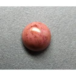 Cabochon rond en verre 14mm Rose marbré