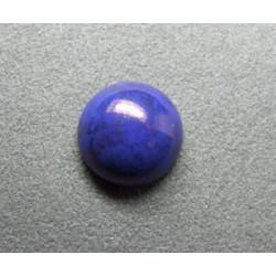 Cabochon rond en verre 14mm Bleu lapis marbré